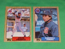 Buy VINTAGE 1987 TOPPS BASEBALL CARD LOT #6 GD-VG