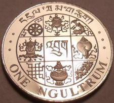 Buy Rare Proof Bhutan 1979 Ngultrum~Incredible Symbols~20,000 Minted~Free Shipping