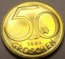 Buy Proof Austria 1964 50 Groschen~Austrian Shield~Free Shipping