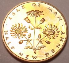Buy Rare Proof Isle Of Man 1971 Half Penny~1st Year Ever~10,000 Minted~Free Shipping