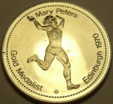 Buy Large Gem Unc Mary Peters~Gold Medalist Medallion~Excellent~Free Shipping