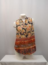 Buy Live 4 Truth Women's Top Size M Geometric Sleeveless Pullover Sheer Multi-Color