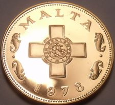 Buy Rare Cameo Proof Malta 1978 Cent~The George Cross~3,244 Minted~Free Shipping~