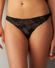 Buy A371T Calvin Klein Perfectly Fit All Over Lace Naked Thong F2877 Dune Black New