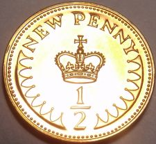 Buy Proof Great Britain 1971 Half Penny~1st Year Ever Minted~Free Shipping
