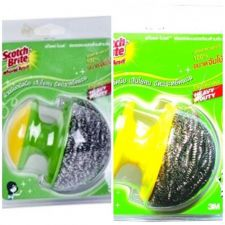 Buy Lot 4 Packs Heavy Duty Stainless Steel Scouring Scrub and Handle 3M Scotch Brite