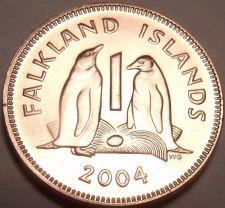 Buy Gem Uncirculated Falkland Islands 2004 Penny~Gentoo Penguins~Fantastic~Free Ship