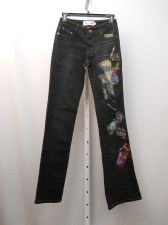 Buy Milano Moda Patchwork Dark Wash Women's Boot Cut Legs 28X34 Jeans Size 5-6