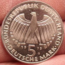 Buy Unc Silver Germany 1973-G 5 Mark~Parliament~EINIGKEIT RECHT FREIHEIT~Free Ship