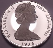 Buy Rare Cameo Proof New Zealand 1976 50 Cents~11,000 Minted~Proofs R Best~Free Ship