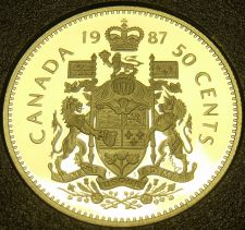 Buy Cameo Proof Canada 1987 50 Cents~179,004 Minted~Free Shipping