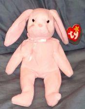 Buy RETRO ORIGINAL TY BEANIE BABY PLUSH HOPPITY PINK BUNNY COLLECTIBLE NICE
