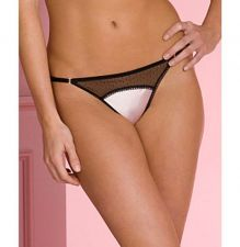 Buy A0277G Jezebel NEW Satin Doll Sheer Mesh Low Rise G-String Thong 52805 Pink Aqua