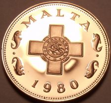 Buy Rare Cameo Proof Malta 1980 Cent~The George Cross~3,451 Minted~Free Shipping~