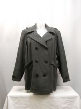 Buy INTL d.e.t.a.i.l.s. Gray Hooded Long Sleeves Double Breasted Peacoat Size 2X