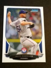 Buy MLB MATT HARRISON RANGERS SUPERSTAR 2013 BOWMAN CHROME #99 MNT