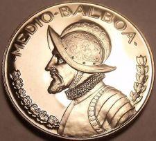 Buy Huge Rare Proof Panama 1974 Half Balboa~18,000 Minted~We Have Panama Coins~Fr/Sh