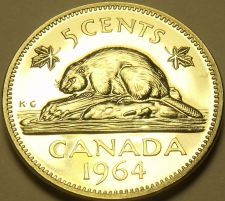 Buy Proof Canada 1964 Beaver Nickel~Collect The Best~Free Shipping