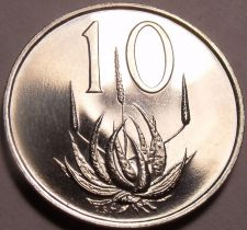 Buy Rare South Africa 1967 Proof 10 Cents~25,000 Minted~Aloe Plant~Free Shipping