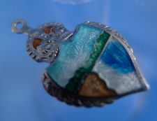 Buy Niagara Falls Canada Enamel & Silver Travel Shield Souvenir Charm