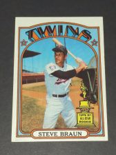 Buy VINTAGE STEVE BRAUN TWINS 1972 TOPPS ROOKIE #244 GD-VG