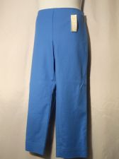 Buy SIZE 18 Womens Casual Ankle Pants CHARTER CLUB Solid Blue Side Zipper Inseam 29
