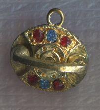 Buy Vintage Charm : Jeweled Brushed Gold Tone Monet Princess Telephone Phone