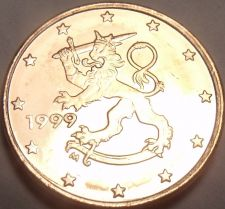 Buy Gem Uncirculated Finland 1999 1 Euro Cent~See All Our European Coins~Free Ship