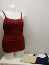Buy SIZE XXL Womens 3PKG Tank Top NO BOUNDARIES Solid Navy Beige Red Lace Trim Pullo