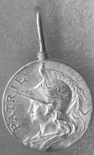 """Buy Vintage French Silver Medal """"Patrie"""" Rooster Crested Helmet Marianne? A Bertrand"""