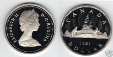 Buy 1981 CANADA PROOF CANOE/VOYAGEUR DOLLAR~CAMEO~FREE SHIPPING~