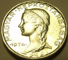 Buy Gem Unc Hungary 1974 5 Filler~Only 60,000 Minted~Free Shipping