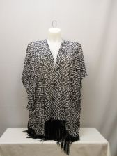 Buy SIZE XL Womens Swimsuit Cover Up OP Wrap Sheer Diamond Kimono Sleeves Fringed