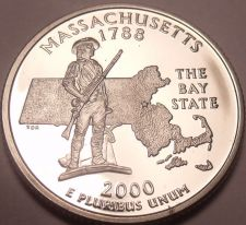 Buy Gem Cameo Proof Massachusetts 2000-S State Quarter~Proofs Are Best~Free Shipping