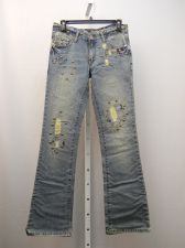 Buy Moda Bohemian Jeans Juniors Size 3 Embellished Stonewashed Boot Cut Legs 30X32