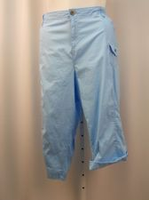 Buy PLUS SIZE 24W Womens Capris STYLE&CO Blue 6 Pockets Button Tab Cuffs Relaxed Hip