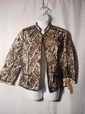 Buy JM Collection Python Reversible Long Sleeved Open Front Wrap Blazer Size 14P