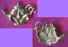 Buy Vintage Sterling alice wonderland WHIMSICAL SMILING TEAPOT 925 CHARM