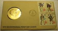 Buy 1975 BICENTENNIAL FIRST DAY COVER MEDALLION~REVOLUTION~PAUL REVERE~FREE SHIPPING