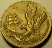 Buy Massive 76.2mm Solid Bronze U.S. Navy 1975 Bi-Centennial Medallion~Fantastic~FrS