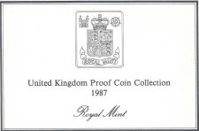 Buy 1987 Great Britain 7 Coin 2 Page C.O.A. Document Set~Free Shipping