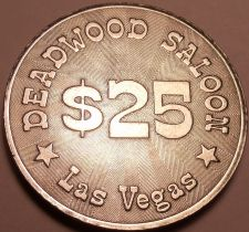 Buy Massive Unc 40mm Deadwood Saloon Las Vegas $25 Gaming Token~Awesome Details~Fr/S