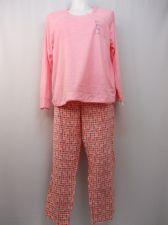Buy Ladies Pajama Set Plus Size 2X Plush Fleece Top & Flannel Pants Starflower Print