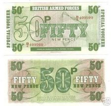 Buy BRITISH ARM FORCES 50 PENCE GEM UNC 6TH SERIES NOTE~F/S