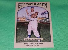Buy MLB Duke Snider Brooklyn Dodgers Hall of Fame 2009 Gypsy Queen Baseball MNT