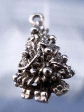 Buy vintage CHARM: UNMARKED silver DECORATED CHRISTMAS TREE