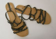 Buy SIZE 10 Womens Gladiator Sandals MILEY CYRUS Max Azria Ankle Straps Buckle
