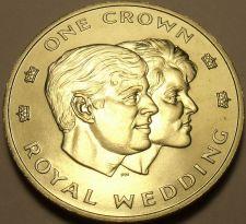 Buy Rare Gem Unc Turks & Caicos Islands 1986 Crown~Prince Andrews Marriage~Free Ship