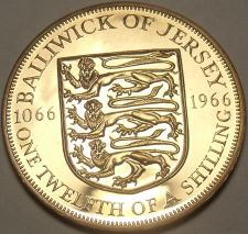 Buy Rare Proof Jersey 1966 1/12th of a Shilling~Only 30,000 Minted~Fantastic~Free Sh