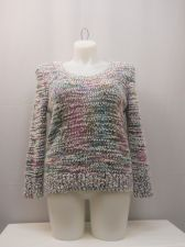 Buy No Boundaries Sweater Juniors Size XL Popcorn Chenille Pullover Long Sleeves